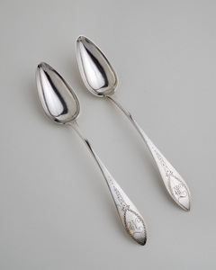 "1960-10-0 & 1907-02-12   (pair tablespoons engraved ""mt"")"