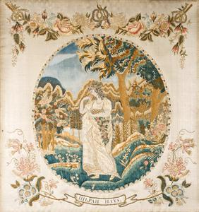 Hilpah hays silk embroidery