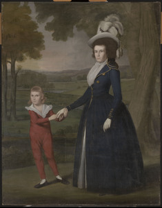 Mrs. william moseley (laura wolcott), and her son charles cropped